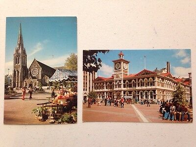 Cathedral Square Post Office outdoor market Christchurch New Zealand set 1970s?