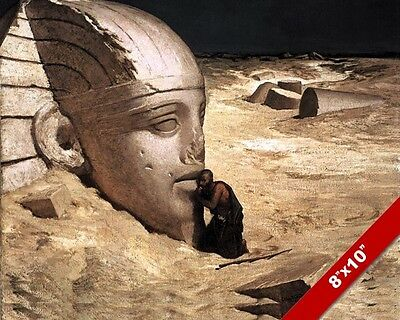 The Secrets Of Ancient Egypt Sphinx Elihu Vedder Painting Art Real Canvas Print