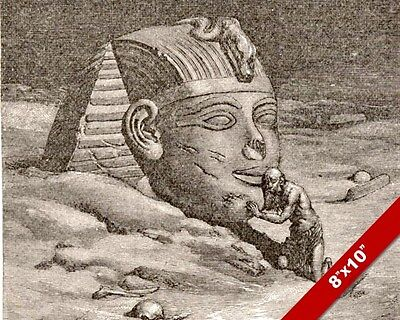 Secret Of Ancient Egypt Sphinx Elihu Vedder Study Painting Art Real Canvas Print