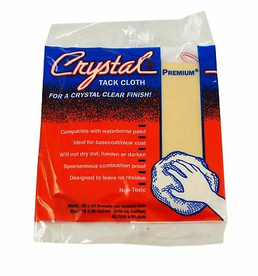 Premium Tack Cloths, Bond Crystal Brand 18 x 36 Inch, 12 Cloths Per Box
