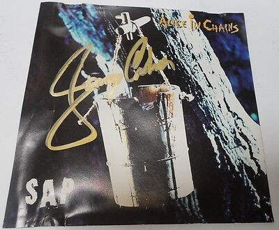ALICE IN CHAINS  signed autographed by cd JERRY CANTRELL