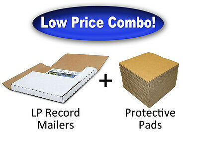 50 LP RECORD ALBUM Mailers + 50 Protective Pads (Combo Discount!)