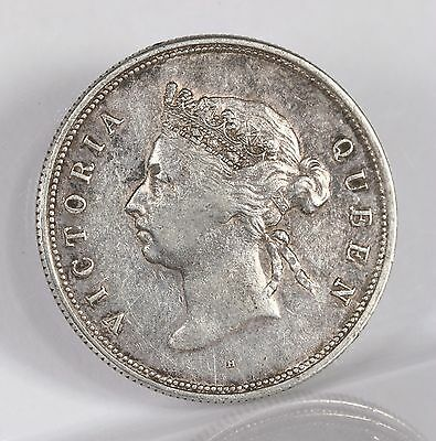 Raw 1891 Hong Kong Queen Victoria 50C Uncertified Ungraded Silver Coin