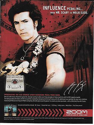 Zoom Signature Pedals - George Lynch - 2008 Print Advertisement