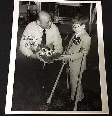 """1970's Signed """"Ed Koch"""" Mayor of New York City Press Photo March of Dimes"""