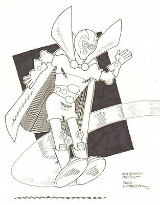 Mister Miracle Commission - 2008 Signed art by Fred Hembeck