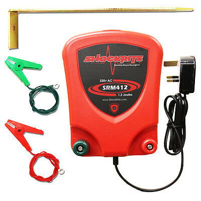 Electric Fence Mains Energiser ShockRite SRM412 1.2 Joule Fencer Unit