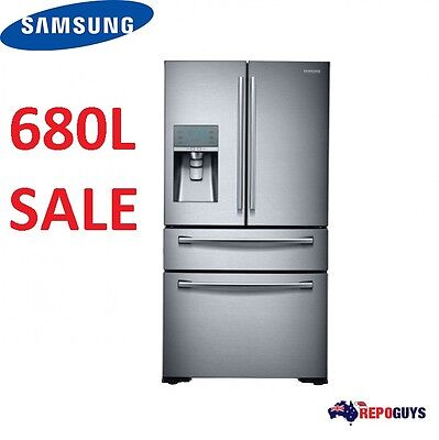 Samsung 680L French Door Fridge / Refrigerator with Twin Cooling SRF680CDLS