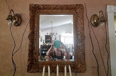 2  ANTIQUE VTG Rare FELDMAN COMPANY WALL MOUNT CHANDELIER, SCONCES LAMPS BRASS