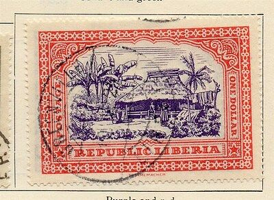 Liberia 1923 Early Issue Fine Used $1. 050417