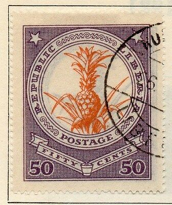 Liberia 1923 Early Issue Fine Used 50c. 050410