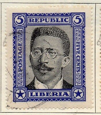 Liberia 1923 Early Issue Fine Used 5c. 050408