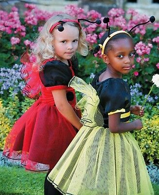 DELUXE LADYBIRD Girls Animal Insect Fancy Dress Costume Outfit LB
