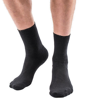 EDZ Merino Wool Thermal Liner Motorcycle Ankle Boots Socks Bike Winter Warm
