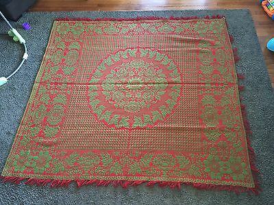 Antique Coverlet Signed Philip Schum Lancaster Pa. Blanket Mid 19th Century