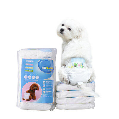 Clean Comfy Pet Disposable Dog Doggy Cat Diaper Diapers Nappy Pads 10pcs/1 Pack