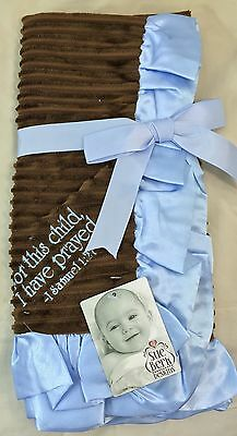 Sue Berk For This Child I Have Prayed Baby Boy Receiving Blanket  28 X 28
