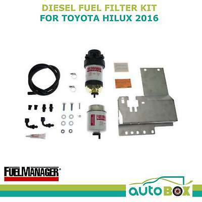 Diesel fuel filter water separator pre-filter for 2016 + Toyota Hilux 2.8 litre