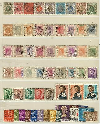 Hong Kong: Lot of different stamps between year 1863-1973 used. HK10