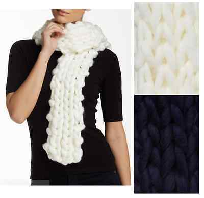 Gap NWT Black Chunky Cable-Knit Fringe Scarf Warm MSRP $49.95