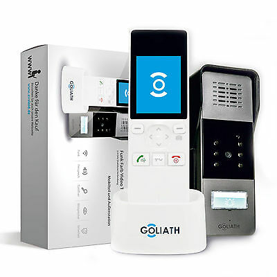 Goliath Funk Farb Video Türsprechanlage Gegensprechanlage Bildspeicher Wireless