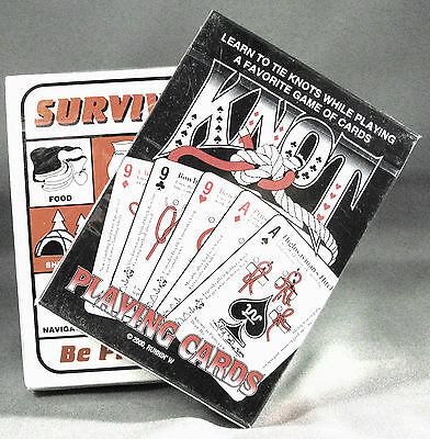 Knot Tying + Survival Playing Cards Disaster Prepper Kit Bushcraft Supplies Gear