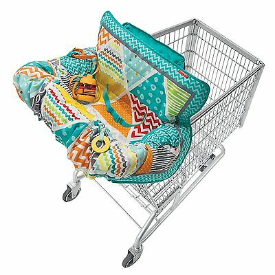 Compact Shopping Cart Cover Seat, Teal, Baby Toddler - NEW & Free Shipping