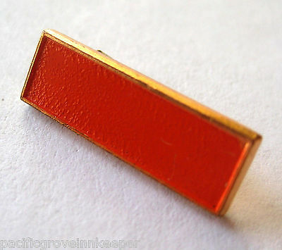 Vintage 1950s Girl Scout Senior Service MUSEUM AIDE BAR Orange Pin Award NEW!