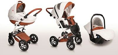 Baby Pram Pushchair Stroller Buggy, Car Seat, Luxury Travel System 2in1 - 3in1