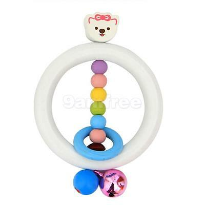 Kid Baby Child Wooden Musical Bell Handbell Rattle Toy Education Instrument