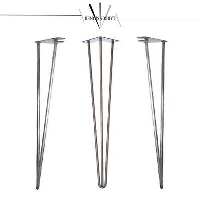 Hairpin Table Legs x 4 - Industrial Retro Style Size and Colour 10&12mm 4-34''