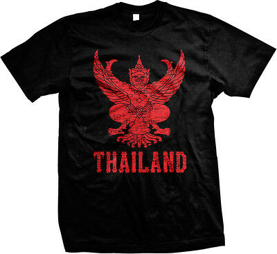 Thailand Coat Of Arms Thai Soccer World Cup Mens T-shirt