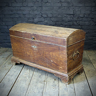 19th C Pine dome top Chest (£295 Ex VAT) • £354.00
