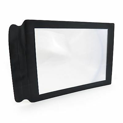 A4 Sized Full Page Magnifier Sheet Large Screen Magnifying Map Reading Aid Lens