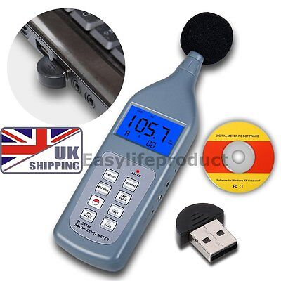 SL5868 Sound Level Meter 30~130 dB Digital Decibel Noise Bluetooth Data Logger
