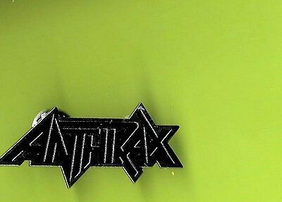 Anthrax heavy metal 1989 pinback button badge MM GORGEOUS CONDITION