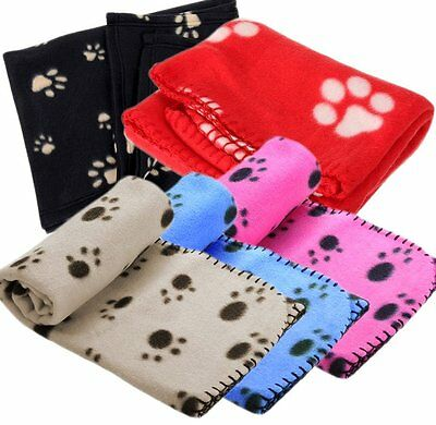 Pet Living Paw Print Large Soft Pet Blanket (100x150cm)Suitable for Cats or Dogs