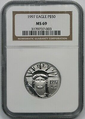1997 Statue of Liberty Half-Ounce Platinum Eagle $50 MS 69 NGC
