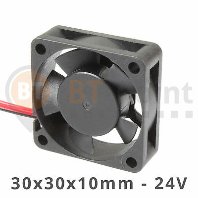3010S 24V Lüfter 30x30x10mm Brushless DC Fan Cooler 30mm 3D Drucker Prusa RepRap