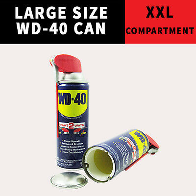 Large WD 40 DIVERSION CASH SAFE SECRET CAN HIDDEN HIDE HERBAL PHISH STASH KEYS +