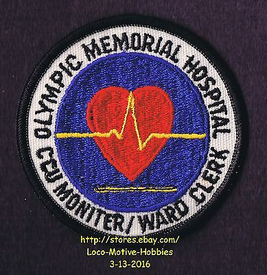 LMH Patch OLYMPIC MEMORIAL HOSPITAL Medical CCU MONITOR WARD Clerk Port Angeles