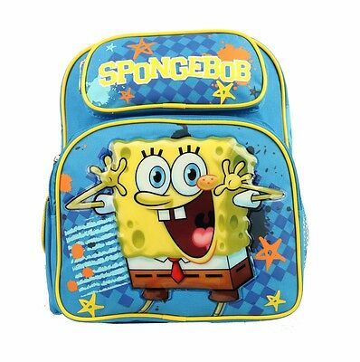 "Brand New Spongebob Squarepants 12"" Toddler Kids Boys Backpack Bag USA SHIP"