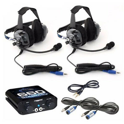 2 Seat 660 Intercom Kit w/ Ultimate Offroad Headsets - Rugged Radios In-Car Comm