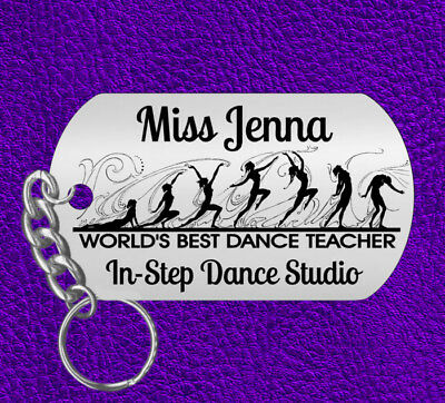 DANCE Teacher Keychain Gift, Personalized with NAME! Instructor Jazz