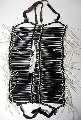Native American Navajo forty row BLACK LEGEND FULL Breastplate by 1 or 2 artists