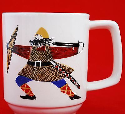"Figgjo Flint ""The Vikings"" by Rolf Froyland Coffee Mug, Handpainted Silkscreen"