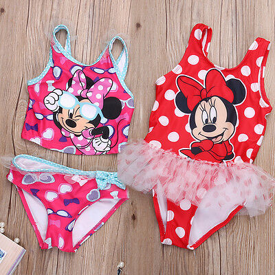 Baby Girls Kids Child Toddler Mickey Mouse Swimwear Swimsuit Tankinis Bikini Set