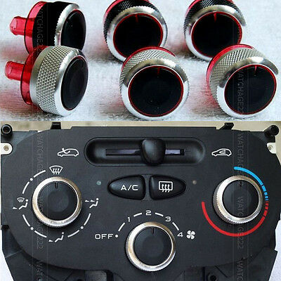 3Pc AC Knob heat heater control Switch buttons for Peugeot 206 207 dials C2 ring