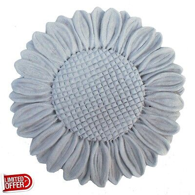 SALE Cast Stone Sunflower Stepstone Antique Gray Garden Statues