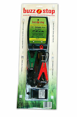 BuzzStop DP600 Dual Power Electric Fence Energiser + 250M Electric Fence Wire